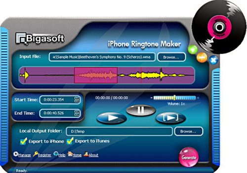 Bigasoft iPhone Ringtone Maker v1.9.4.4769 2013 up.dla.EXSite.pl.