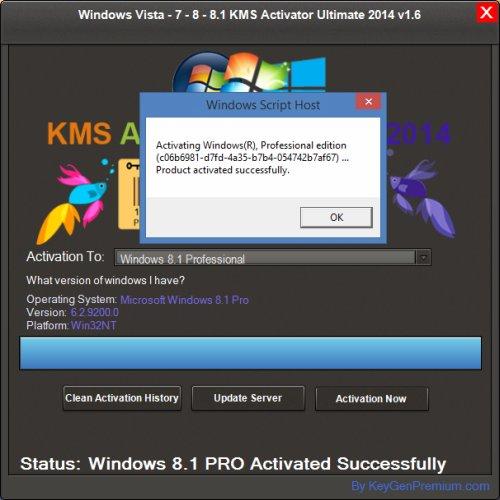 Windows Vista - 7 - 8 - 8.1 KMS Activator Ultimate 2014 v1.7