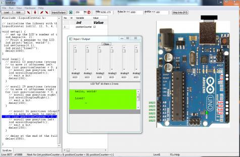 Simulator for Arduino Pro 0.99B