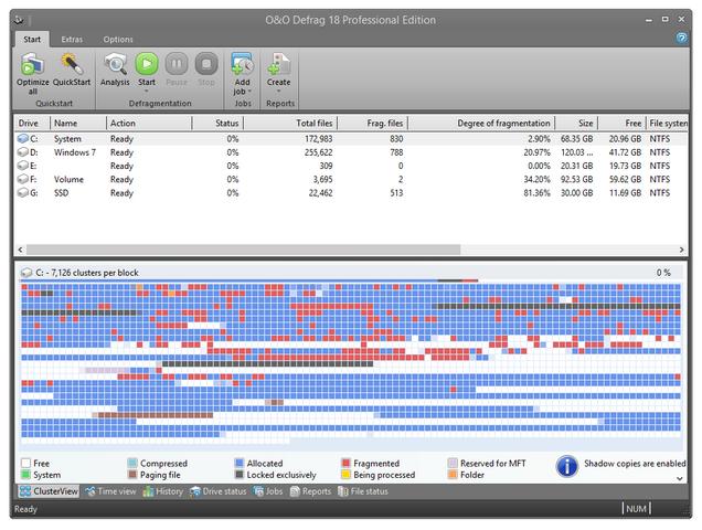 O&O Defrag - одна из самых известных и лучших программ для дефрагментац