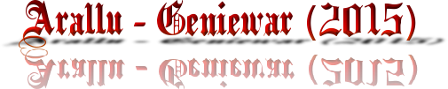 Arallu - Geniewar (2015) Cooltext120271457059823