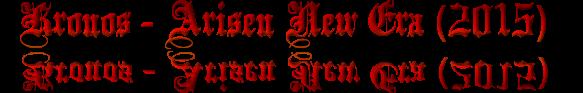 Kronos - Arisen New Era (2015) Cooltext128319165289361
